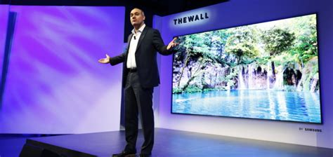 """Samsung Unveils """"The Wall,"""" the World's First Modular"""