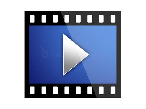 Film frame play icon (PSD) | Backgroundsy
